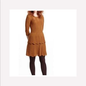 Anthro Knitted Knotted Crochet Pontelle Knit Dress